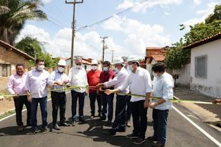 Wellington Dias inaugura e visita obras em Campo Maior