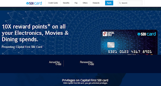 Capital First SBI Card, How to Apply SBI Credit Card Online