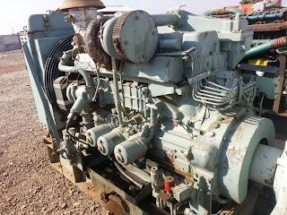 mitsubishi marine diesel engine, S6B MPTA, 275 KVA, 285 Kw, used second hand, for sale, India