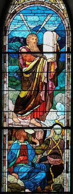 Imagem de Moisés e os Mandamentos, vitral, #1