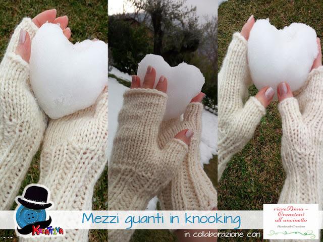 Mezzi guanti in knooking