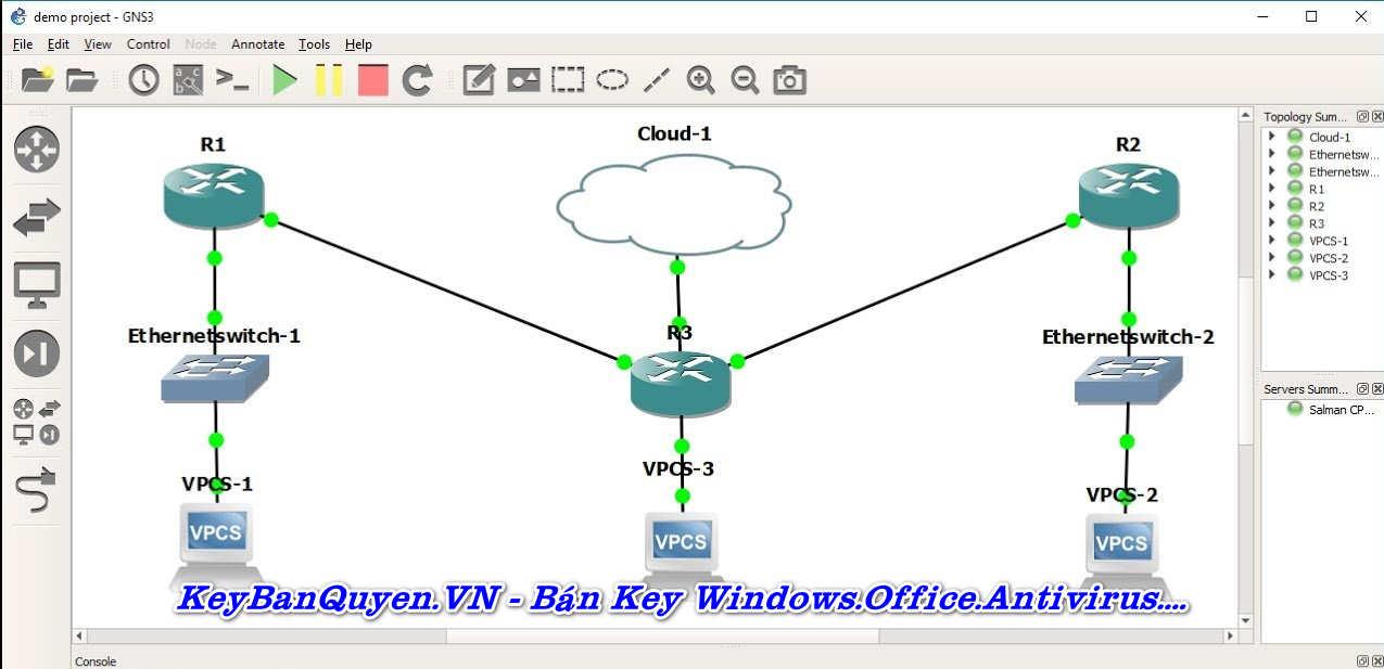 Download và cài đặt GNS3 2.2.5 Final Full Key, Phần mềm Xây dựng, thiết kế và kiểm tra mạng ảo.