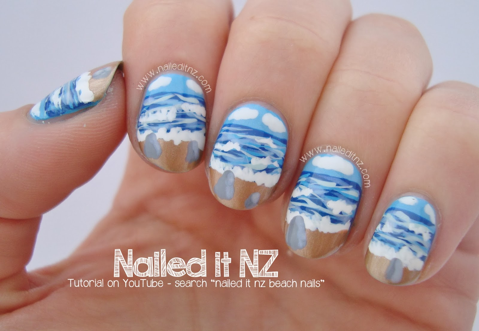 Beach Nail Art Tutorial