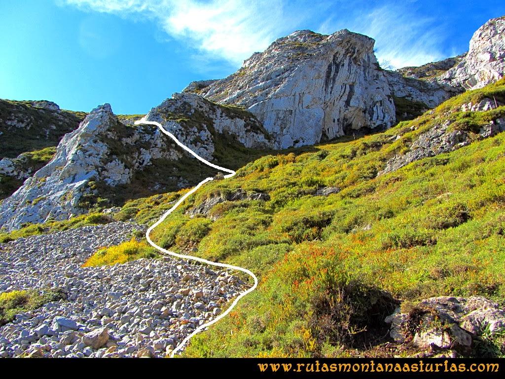 Rutas Montaña Asturias: Subiendo por la Canal a la Hoya