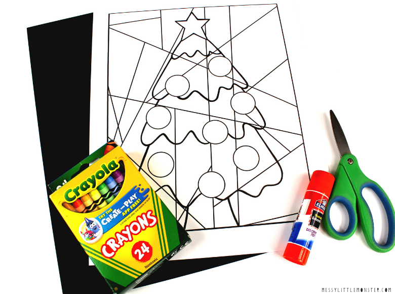Christmas tree pictures to color