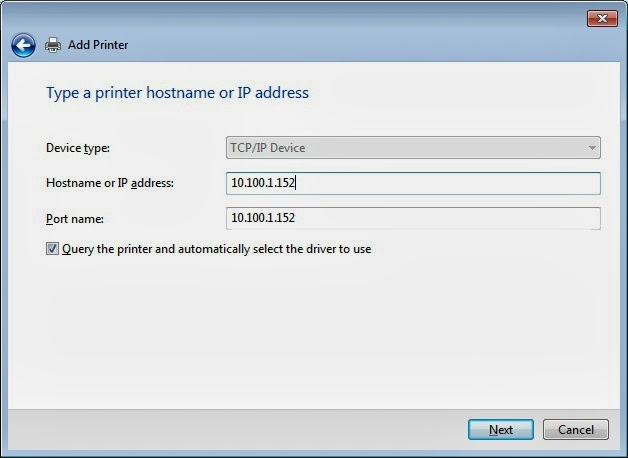 how to find a printers ip address on windows 7