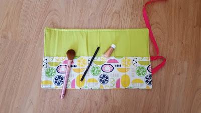 DIY makeup brush roll (tutorial)