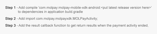 MOLPay Mobile XDK: easy integration process