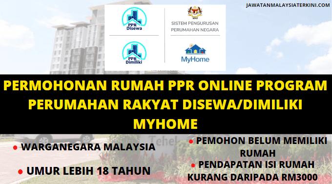 [MOHON SEKARANG] Program Perumahan Rakyat (PPR) 2020