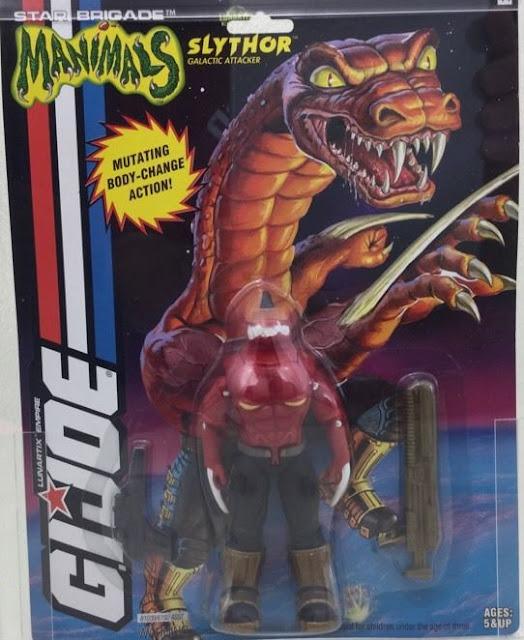 1994 Slythor, Manimals, Unproduced G.I. Joe Toys, Star Brigade, MOC