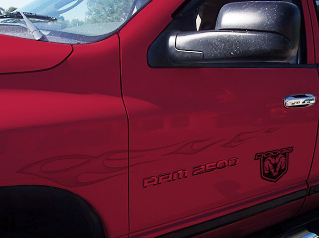 red-dodge-ram-2500-graphics-and-emblem