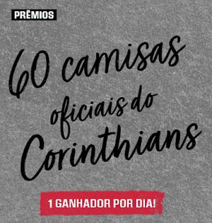Cadastrar Promoção ALE 110 Anos de Loucura 60 Camisas Oficiais do Cortinthians