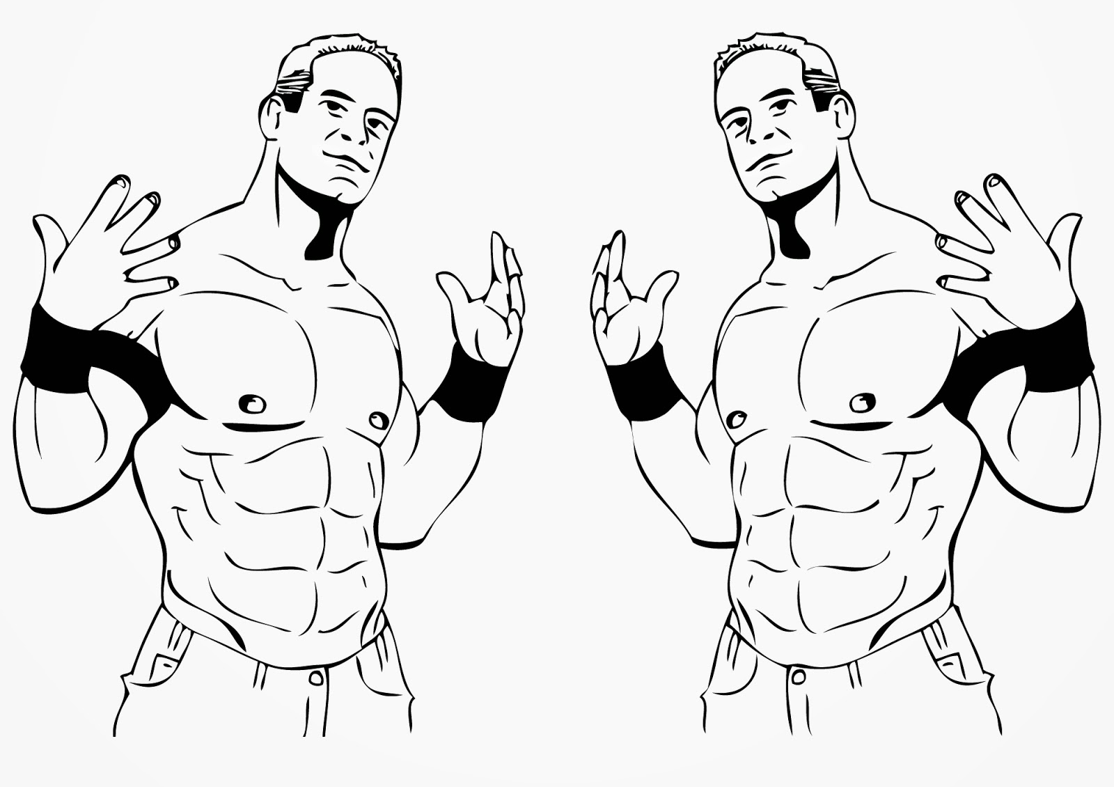 John cena coloring easy coloring pages for Wwe raw coloring pages