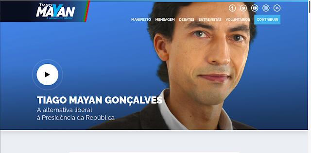 PÁGINA NA INTERNET DO CANDIDATO TIAGO MAYAN