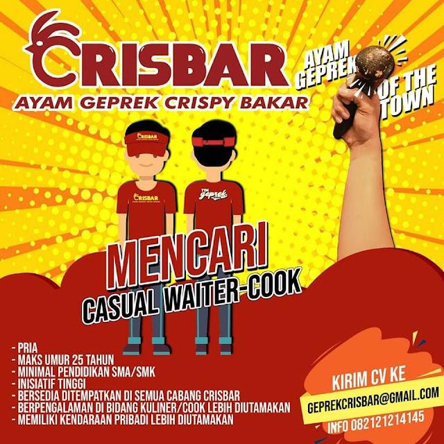 Loker Ayam Geprek CRISBAR Bandung