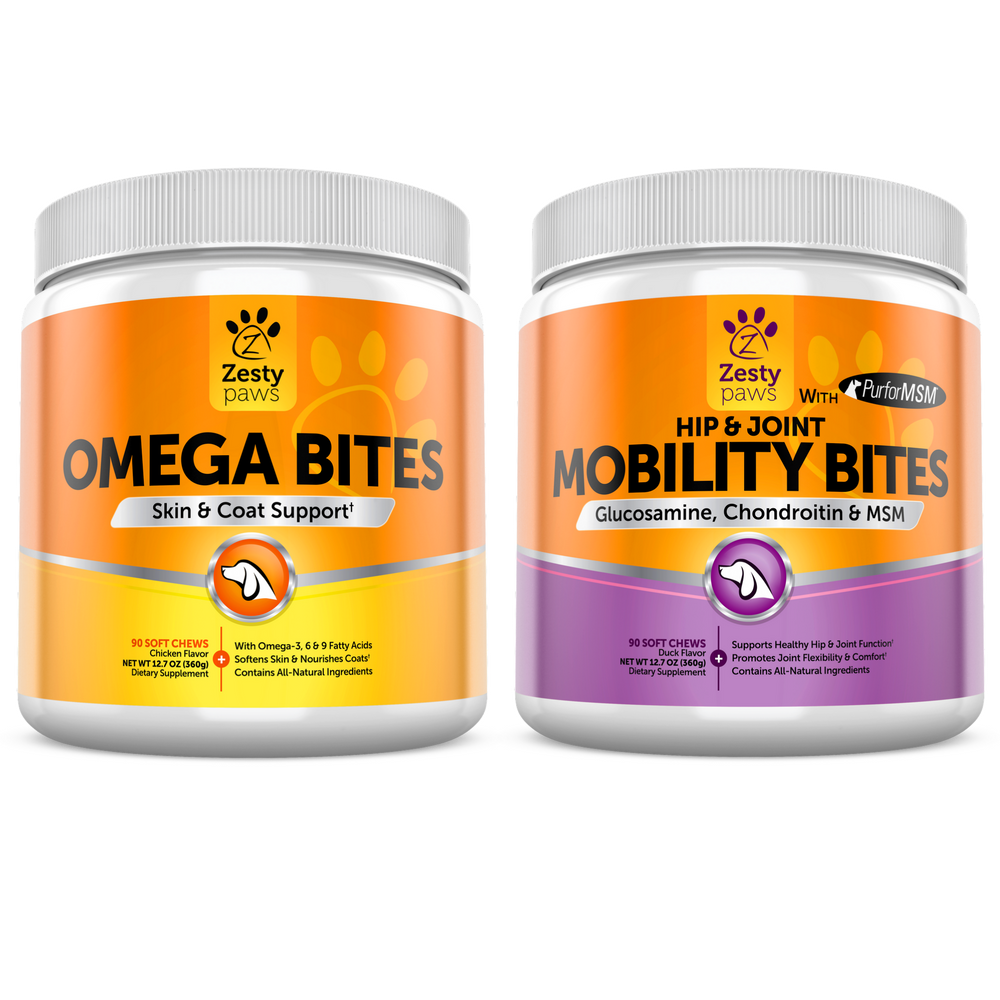 Zesty Paws Premium Supplements Omega 3 Bites Mobility And Velvy Goats Milk Shower Cream 1liter Licorice Ampamp Sea Butter Delicious Bacon Flavored Chewable With All Natural Ingredients That Will Keep Your Dog Healthy From The Inside Out