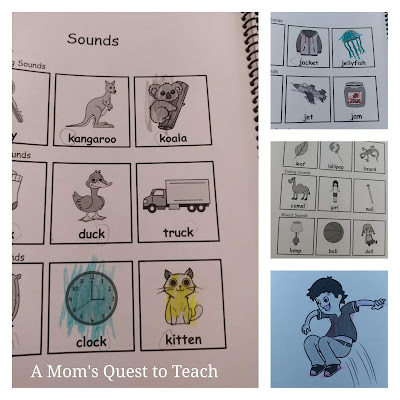 sounds pages from Beginning Consonants colored in