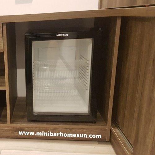 Tủ mát minibar homesun cánh kính
