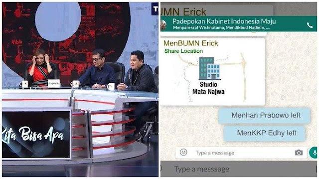 Chat Grup WA Menteri Jokowi 'Bocor', Prabowo Tinggalkan Grup karena Erick Thohir, Wishnutama Panik