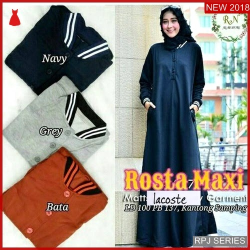 RPJ254D216 Model Dress Rosta Cantik Maxy Wanita