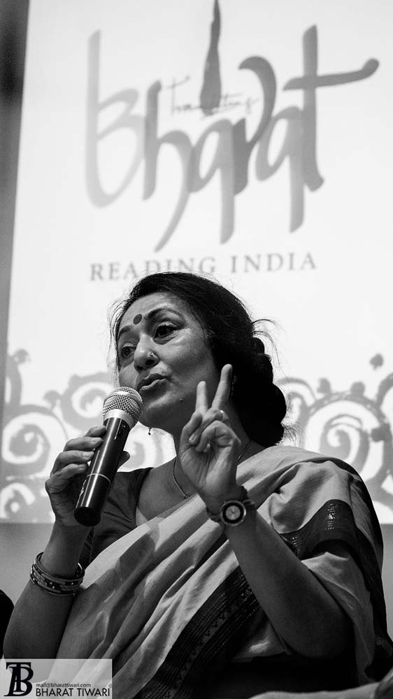 Anamika at the launch of Translating Bharat, Reading India at oxford book store