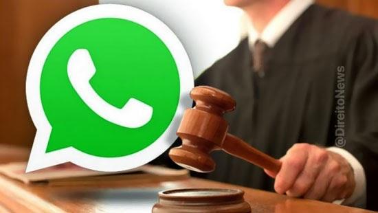 juiz nao interferir politica dados whatsapp