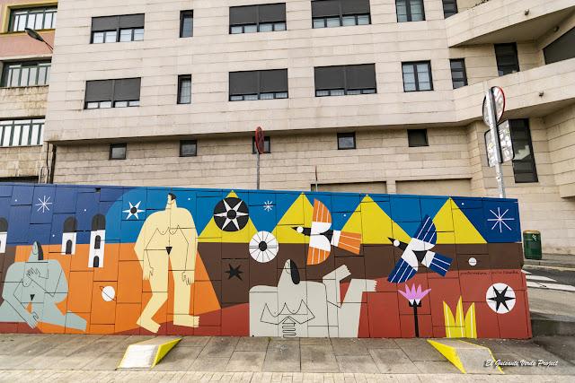 Mural (detalle) Supervivientes Violencia Machista, por Junita Makina - Merced, Bilbao por El Guisante Verde Project