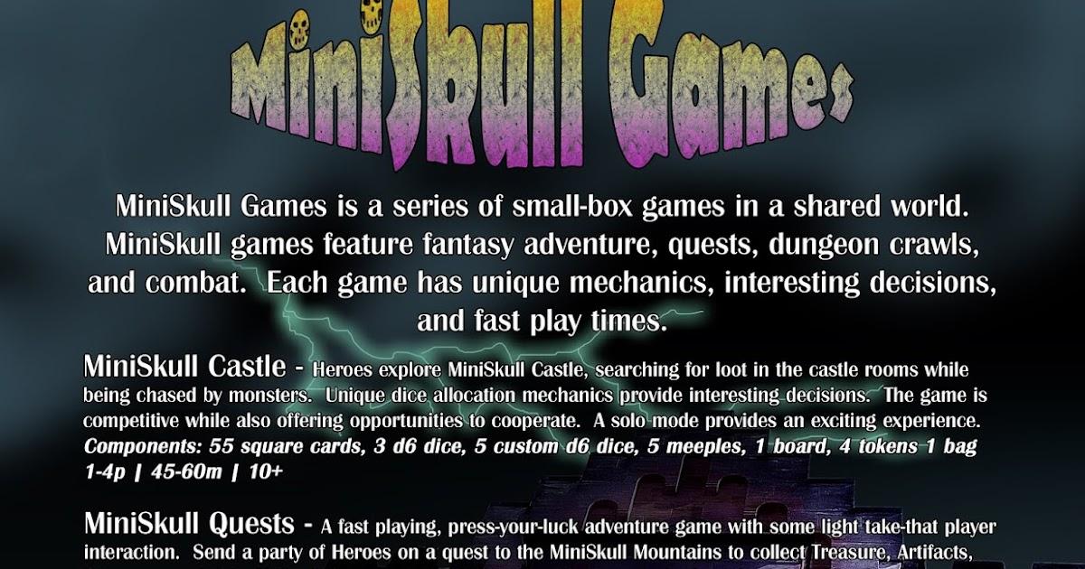 9fd5f6de333 GJJ Games: MiniSkull Game Series