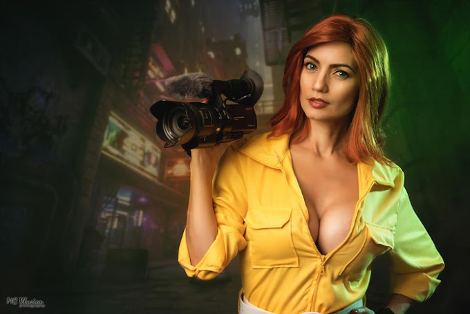 Ivy Cosplay con su cosplay de April O´Neil