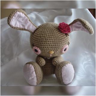 patrón amigurumi Conejita canal crochet