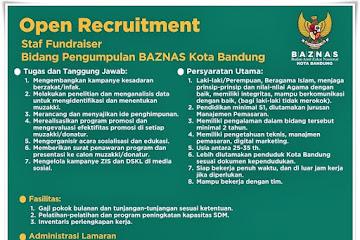 Lowongan Kerja Staf Fundraiser Baznas Kota Bandung