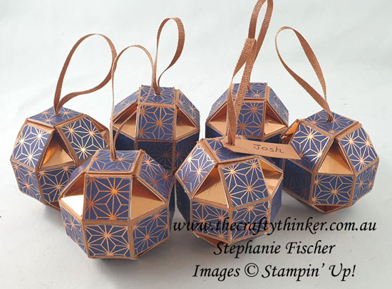#thecraftythinker #stampinup #christmastablefavors #xmastablefavours #baubles #3dpaperproject #cardmaking , Christmas Table Favors, Christmas Baubles, 3D paper project, Stampin' Up Demonstrator, Stephanie Fischer, Sydney NSW