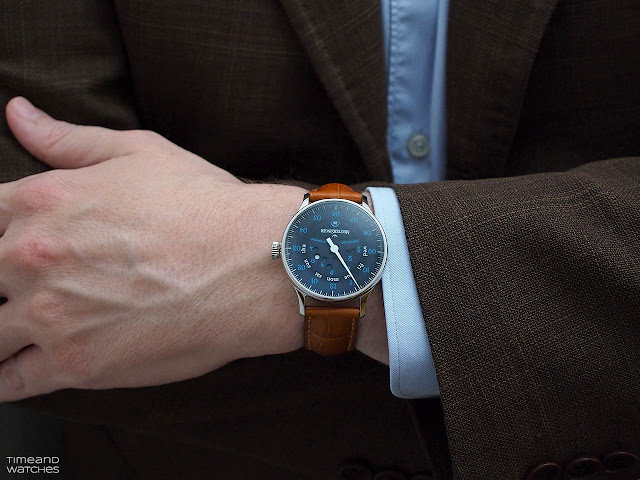MeisterSinger Astroscope on the wrist