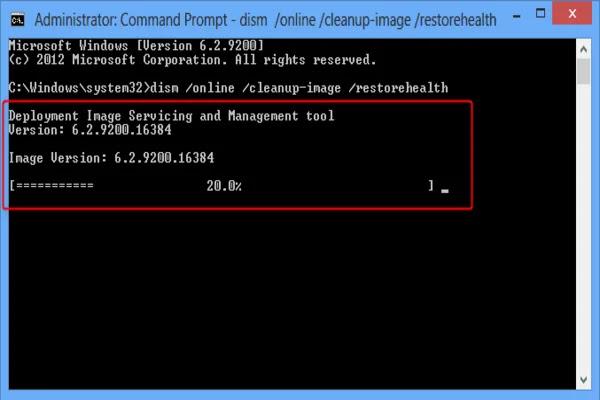 اصلاح ملفات نظام التشغيل Windows 10 باستخدام الاداه DISM