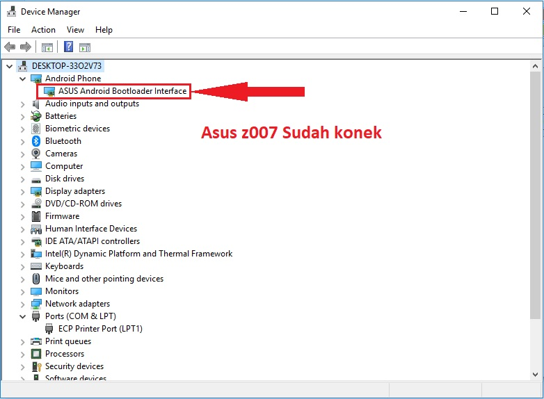Asus Z007 Device Manager