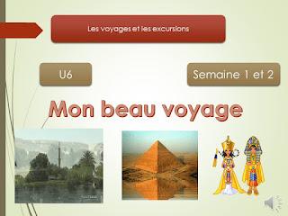"""Expression Orale de L""""unité 6 -semaine 1 et 2 -  pour la 3AEP"""