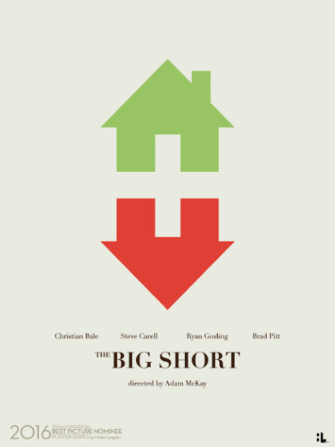 The Big Short movie poster by Hunter Langston / 2016 Best Picture Oscar Movie Posters