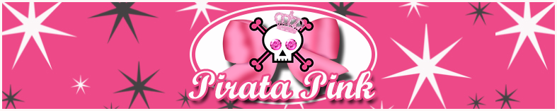 Etiquetas de Pirata Rosa para imprimir gratis.