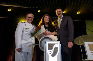 International recording artist and best-selling soprano Sarah Brightman officially named the Seabourn Encore ultra-luxury ship.