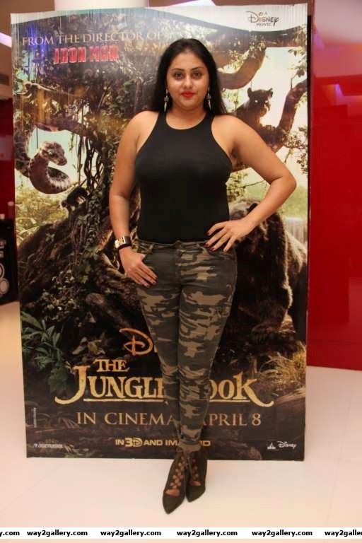 Namitha looked stunning at the special screening of The Jungle Book in Chennai