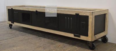 Meuble TV industriel bois et métal