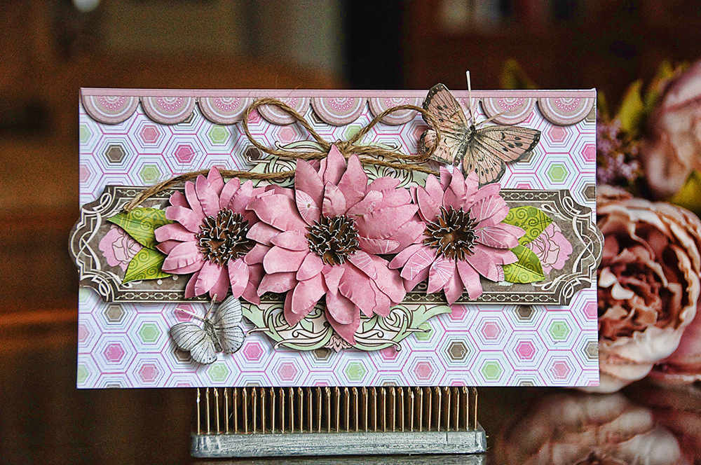 Daisy Primrose Card by Lisa Gregory far BoBunny featuring the Primrose Collection
