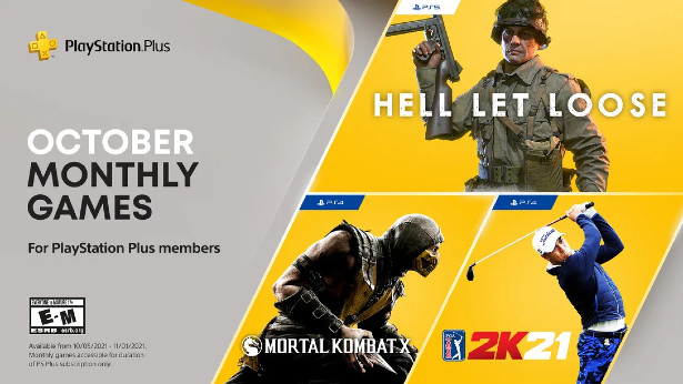 PS+ Plus free games october 2021