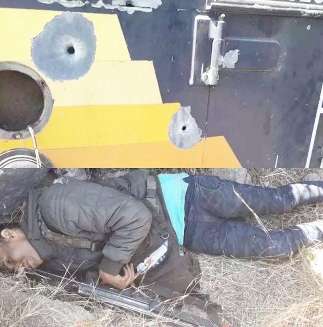 Sicarios usaron camión blindado de valores durante un enfrentamiento entre grupos rivales en Michoacán