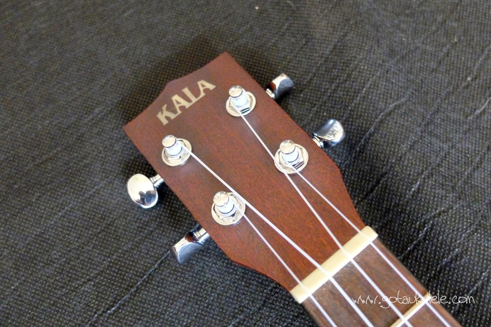 Kala KA-RES- CHR Tenor Resonator ukulele headstock