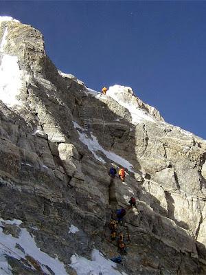 Aspecto del Segundo Escalón del Everest