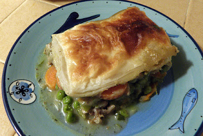 Serving of Golden Brown Turkey Pot Pie