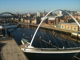 Things to do on Newcastle Quayside- view from the baltic