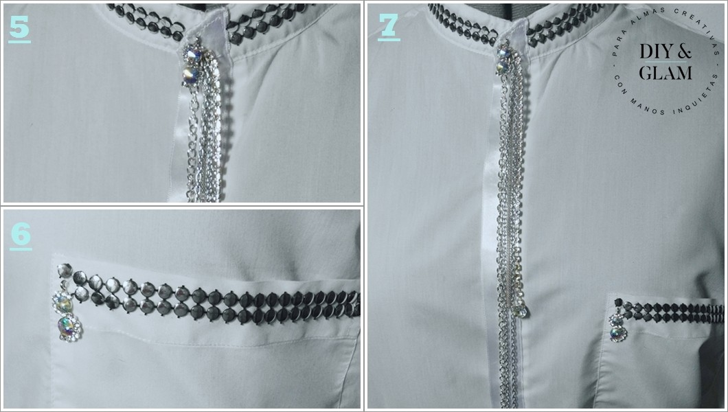 amp; Hombre De Camisa Glam Customiza Una Diy Blanca RwXPYTnq