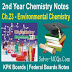 Environmental Chemistry 2nd Year Chemsitry Notes